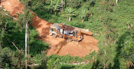 Forage au Cameroun en Afrique-Centrale